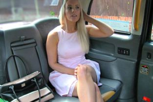 FakeTaxi - Beautiful blonde gives sexual reward for helpful cab driver