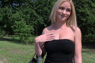 PublicAgent - Beautiful blonde Italian get naked for sex outdoors