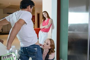TeamSkeet - Pepper Hart, Katy Kiss Raunchy Redhead Family Gets Seductive BadMilfs