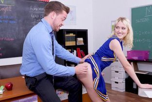 BangConfessions - Chloe Cherry Cheerleads Her Pussy All Over Her Teacher's Cock