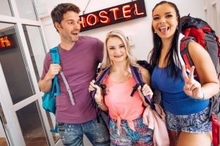 FakeHostel - Sofia Lee, Lily Joy Between a Blonde and Brunette
