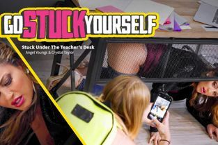 GoStuckYourself - Crystal Taylor, Angel Youngs Stuck Under The Teacher's Desk