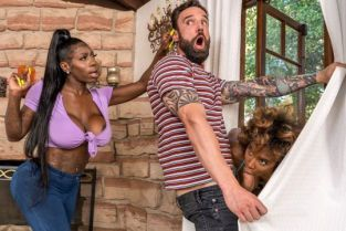 Demi Sutra, Ebony Mystique Jogging His Memory With Her Pussy BrazzersExxtra